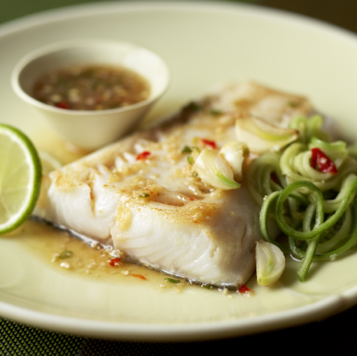 ginger lime cod on plate
